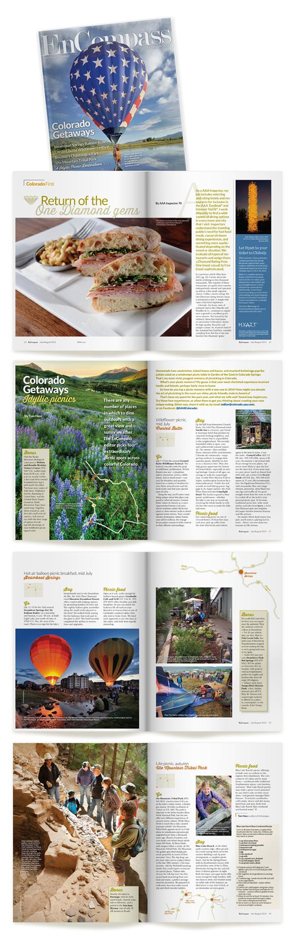 magazine publication graphic design