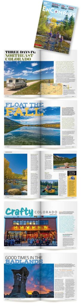 travel related magazine design